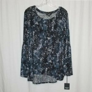 Simply Vera Wang Bell Sleeve Knit Top 0X